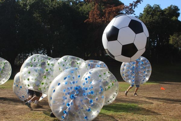 AirballingOC provides the best Bubble Soccer Rental experience. We provide both adult and kid bubble balls for a fun experience!