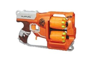 The Flip Fury is a cool nerf gun that's sometimes picked up by the older kids when they participate in our Nerf Gun Party.