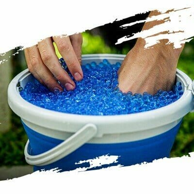 Our Gellets are biodegradable and fun to touch! We provide unlimited gellets in our Gel Blaster Parties!