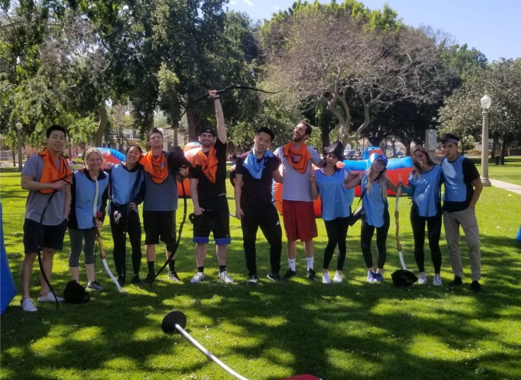 Group Photo of Arrow Tag x Archery Tag in Santa Ana. We recently took over Arrow Tag OC's equipment and games to enhance the experience that we provide to clients.