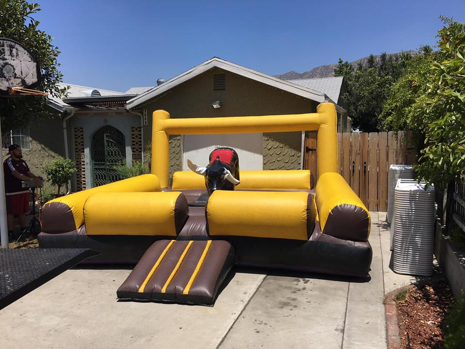 Yellow Mechanical Bull for Rent in Orange County. Our home base for our bull rental is in orange, california