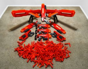 This is our Nerf Megas used in our Fortnite Party in Anaheim