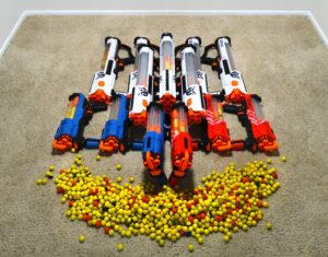 This is our Nerf Rivals that are used in our Fortnite Party in Orange County
