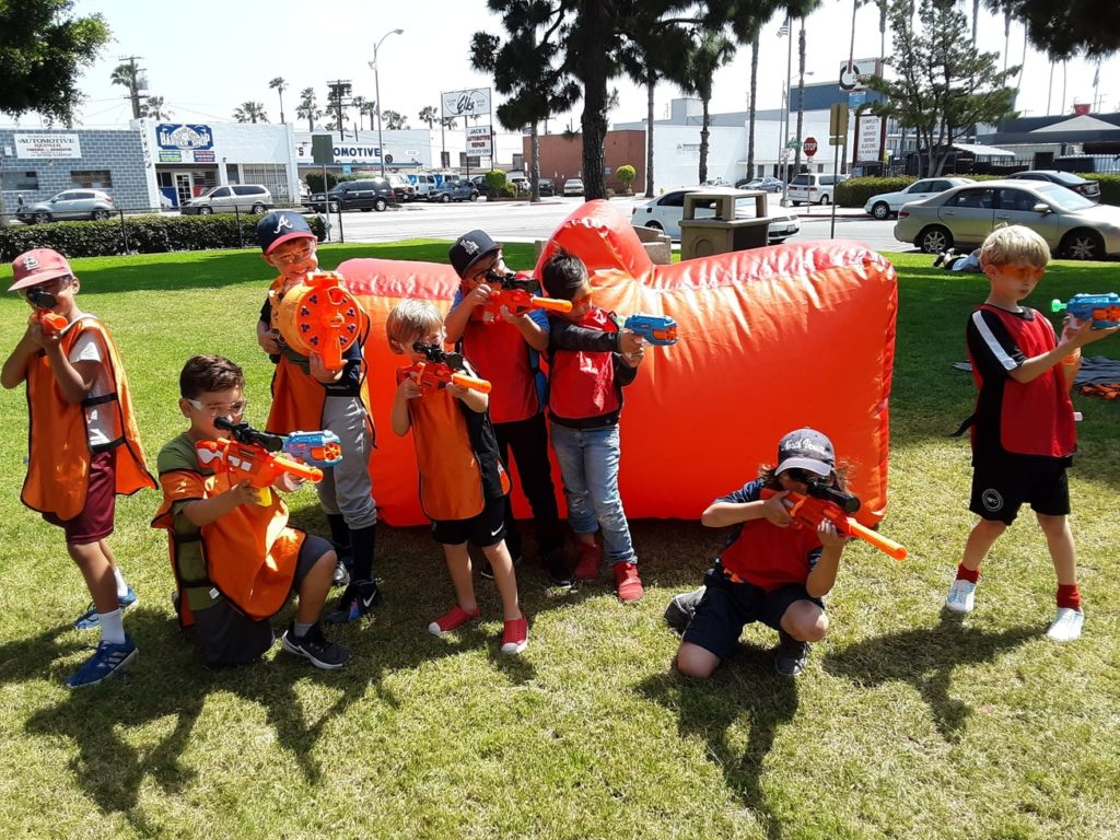 AirballingOC threw a ridiculously fun Nerf Party for kids in Anaheim. Kids were romping around and we can definitely say this was a thrilling Nerf Wars.