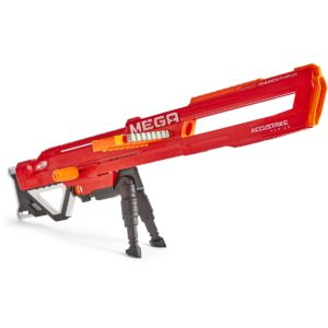 Nerf Mega ThunderHawk. We use this mega in our Nerf Wars Party and kids love it because of the extension feature of this nerf gun!