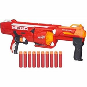 Mega Nerf Rotofury is a popular mega nerf gun that's often used. We see kids always rave about it because