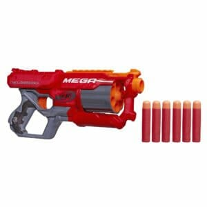 Nerf Mega Cycloneshock is our most prized nerf gun in our Mega Nerf War Party in Orange County.