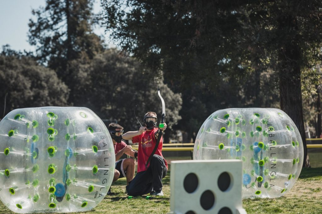 AirballingOC provides a bundle package that includes Bubble soccer and archery tag. This package is for those who are looking for maximum stimulation on the day of their party!